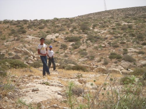 Two young Palestinian shepherds